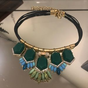 JCREW Blue Green Rhinestone Necklace
